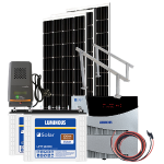 Off Grid Solar System MPPT – 1500VA with 1000 watt mono panel, for mid size home, shops etc.