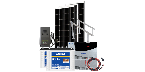off grid solar 1500va hybrid system with battery backup