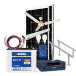 Solar off grid combo MPPT – 1000 VA, with free BLDC celing fan, LED lights, with 15-20 hours* backup