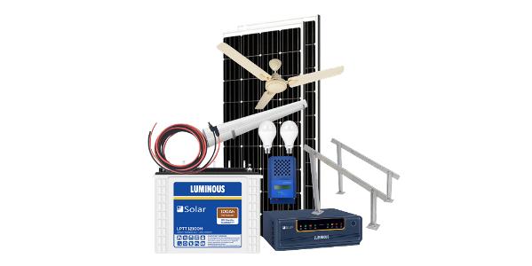 Solar off grid combo 1000va, free celing fan and lights, 15-20 hours backup. MPPT solar charger, 1000 VA inverter, 150ah solar battery