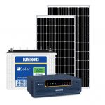 Off Grid Solar System – 1000VA, with 360 wp mono panel and 150 ah solar battery, for small home, shop etc.